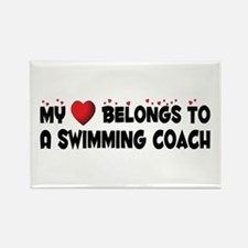 Belongs To A Swimming Coach Rectangle Magnet