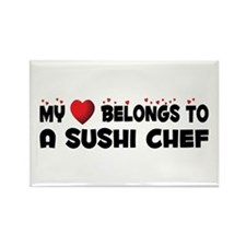 Belongs To A Sushi Chef Rectangle Magnet