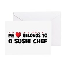 Belongs To A Sushi Chef Greeting Cards (Pk of 20)