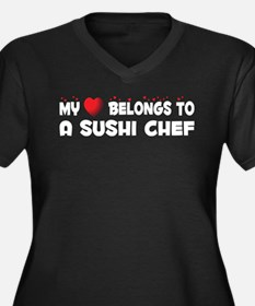 Belongs To A Sushi Chef Women's Plus Size V-Neck D