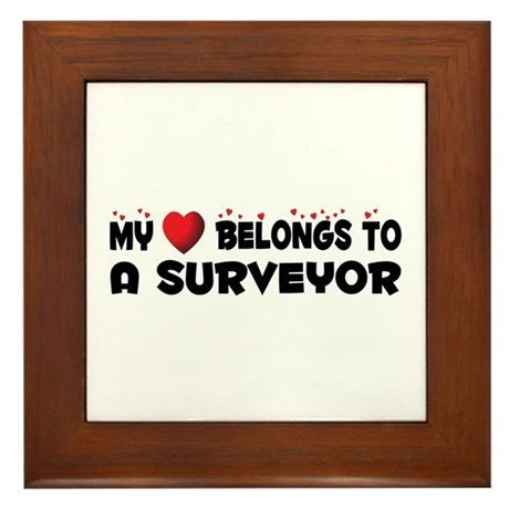 Belongs To A Surveyor Framed Tile