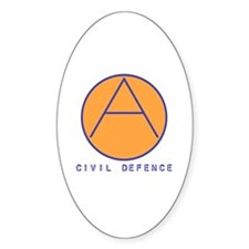 Civil Defence Oval Decal