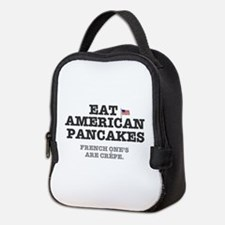 AMERICAN PANCAKES - FRENCH CREP Neoprene Lunch Bag