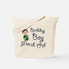 Birthday Boy March 17th Tote Bag