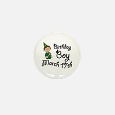 Birthday Boy March 17th Mini Button (10 pack)