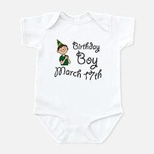 Birthday Boy March 17th Infant Bodysuit