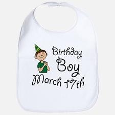 Birthday Boy March 17th Bib
