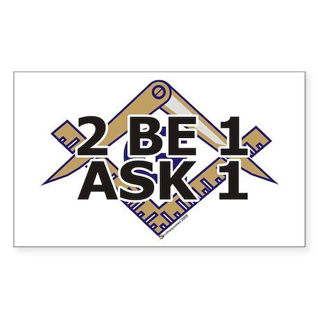 2B1ask1 Rectangle Sticker