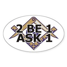 2B1ask1 Oval Decal