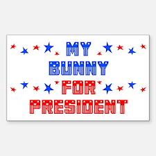 Bunny PRESIDENT Rectangle Decal