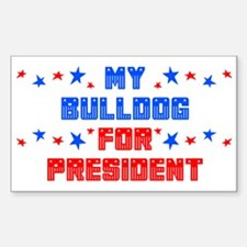 Bulldog PRESIDENT Rectangle Decal