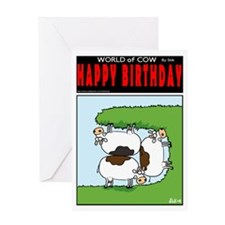 Cramped Cows Greeting Card