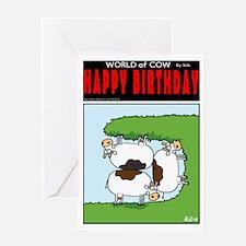 Cramped Cows Greeting Card