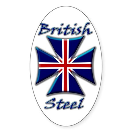 British Steel Maltese Cross Oval Sticker