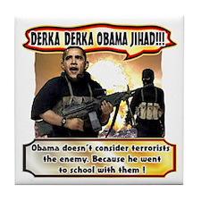 Anti Obama Tile Coaster