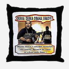 Anti Obama Throw Pillow