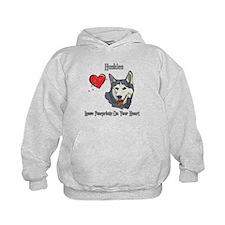 Huskies Leave Paw Prints Hoodie
