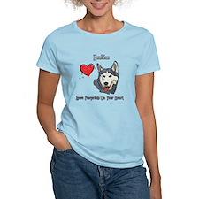 Huskies Leave Paw Prints T-Shirt