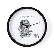 Biker Bitch Wall Clock