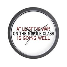 War on Middle Class Wall Clock