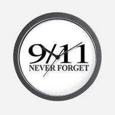 9/11 Never Forget Wall Clock