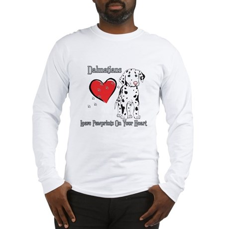 Dalmatians Leave Paw Prints Long Sleeve T-Shirt