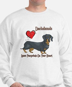 Dachshunds Leave Paw Prints Sweatshirt