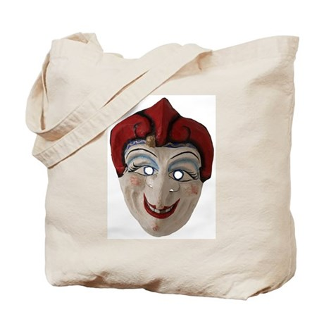 Red Hat Clown Mask Tote Bag