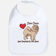 Chow Chows Leave Paw Prints Bib