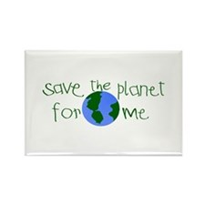 Save the Planet for me Rectangle Magnet (100 pack)