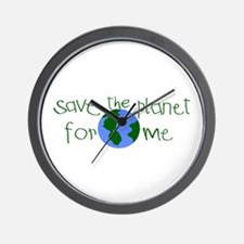 Save the Planet for me Wall Clock
