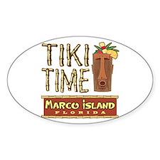 Marco Island Tiki Time - Oval Decal