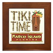 Marco Island Tiki Time - Framed Tile