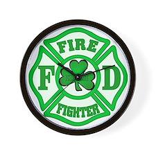 Irish Fire Fighter Wall Clock
