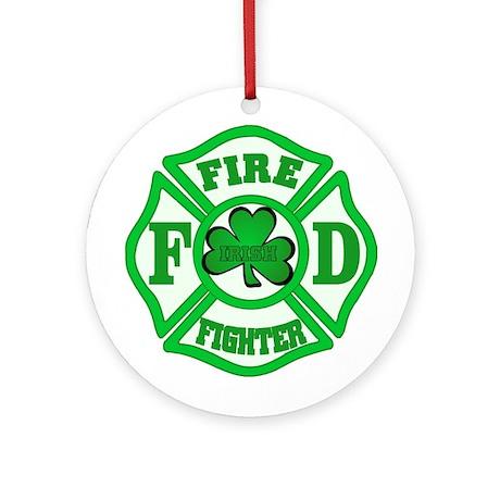 Irish Fire Fighter Ornament (Round)