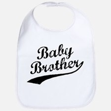 Baby Brother (Black Text) Bib