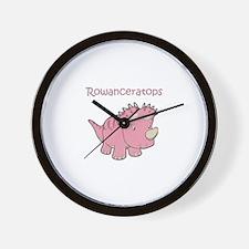 Rowanceratops Wall Clock