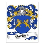 Carlsen Family Crest Small Poster