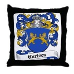 Carlsen Family Crest Throw Pillow