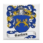 Carlsen Family Crest Tile Coaster