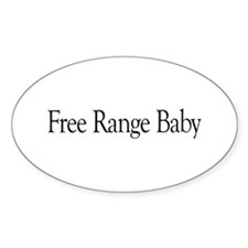 Free Range Baby Oval Decal