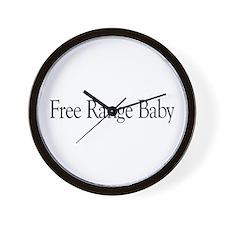 Free Range Baby Wall Clock
