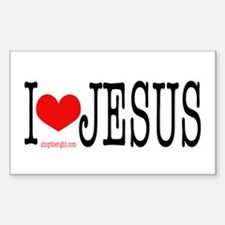 I Love Jesus Rectangle Decal