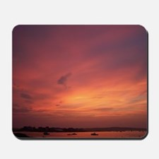 Ferry Beach Burning Sunset Mousepad