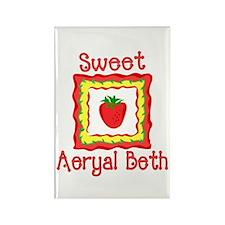Sweet Aeryal Beth Rectangle Magnet