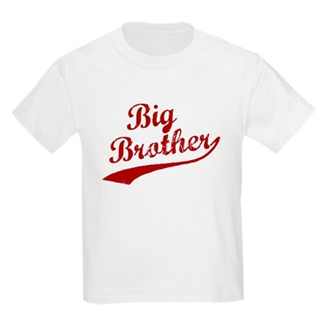 Big Brother (Red Text) Kids Light T-Shirt