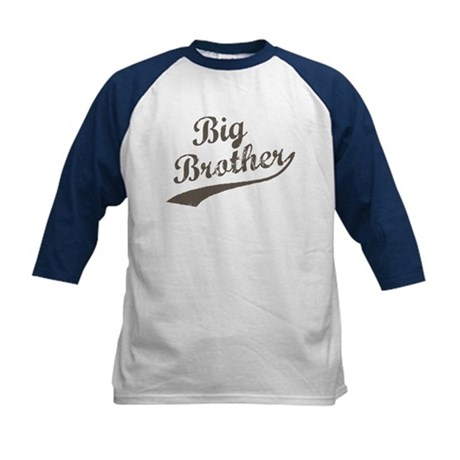 Big Brother (Brown Text) Kids Baseball Jersey