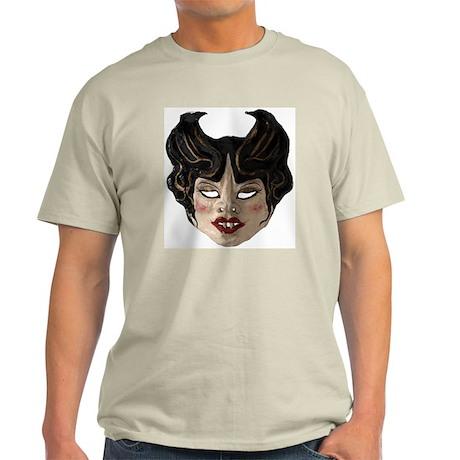 Vampire Woman Mask Light T-Shirt