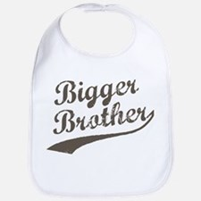 Bigger Brother (Brown Text) Bib