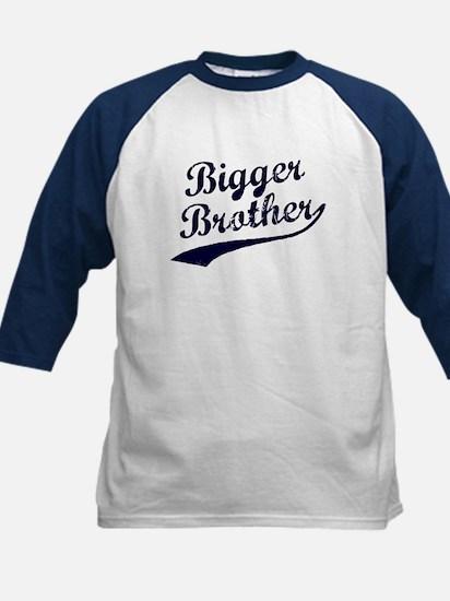 Bigger Brother (Blue Text) Kids Baseball Jersey